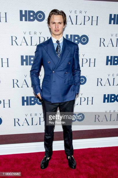 Ansel Elgort attends HBO's Very Ralph World Premiere at The Metropolitan Museum of Art on October 23 2019 in New York City