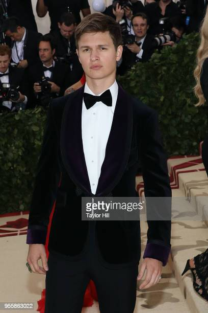 Ansel Elgort attends 'Heavenly Bodies Fashion the Catholic Imagination' the 2018 Costume Institute Benefit at Metropolitan Museum of Art on May 7...