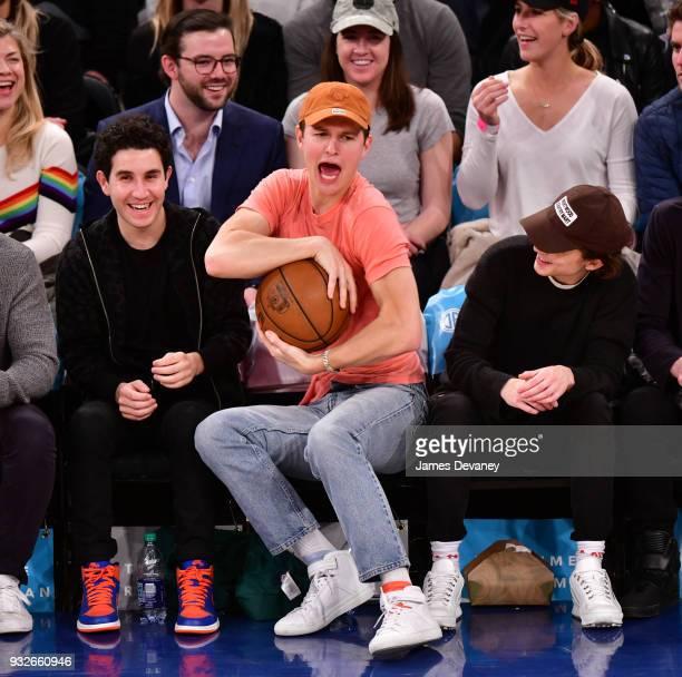 Ansel Elgort attends New York Knicks Vs Philadelphia 76ers game at Madison Square Garden on March 15 2018 in New York City