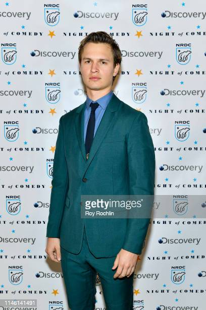 """Ansel Elgort attends NRDC's """"Night of Comedy"""" Benefit, in partnership with Discovery, Inc. Hosted by Seth Meyers on April 30, 2019 in New York City."""