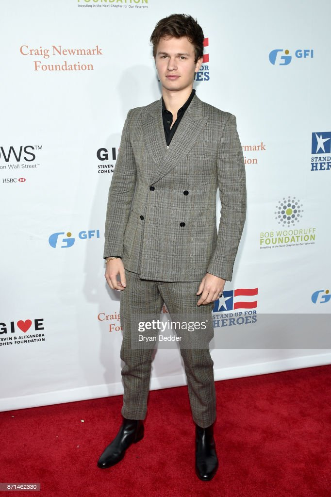 Ansel Elgort attends the 11th Annual Stand Up for Heroes Event presented by The New York Comedy Festival and The Bob Woodruff Foundation at The Theater at Madison Square Garden on November 7, 2017 in New York City.