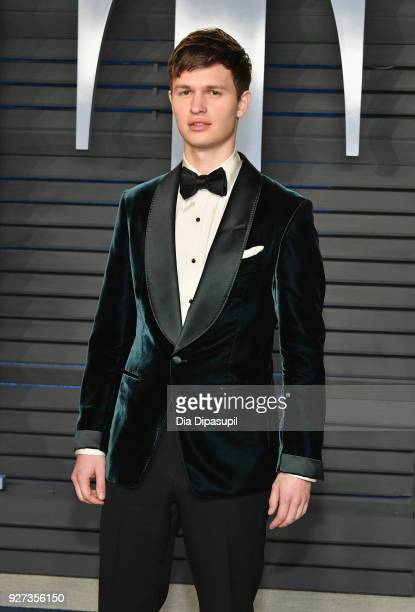 Ansel Elgort attends the 2018 Vanity Fair Oscar Party hosted by Radhika Jones at Wallis Annenberg Center for the Performing Arts on March 4, 2018 in...