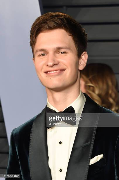 Ansel Elgort attends the 2018 Vanity Fair Oscar Party hosted by Radhika Jones at the Wallis Annenberg Center for the Performing Arts on March 4 2018...