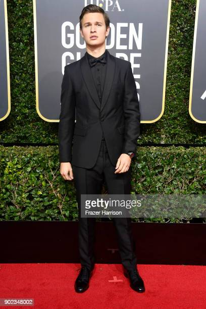 Ansel Elgort attends The 75th Annual Golden Globe Awards at The Beverly Hilton Hotel on January 7 2018 in Beverly Hills California