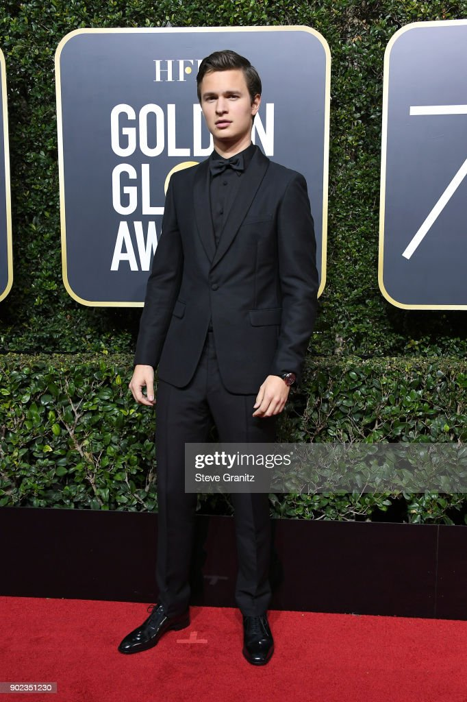 Ansel Elgort attends The 75th Annual Golden Globe Awards at The Beverly Hilton Hotel on January 7, 2018 in Beverly Hills, California.
