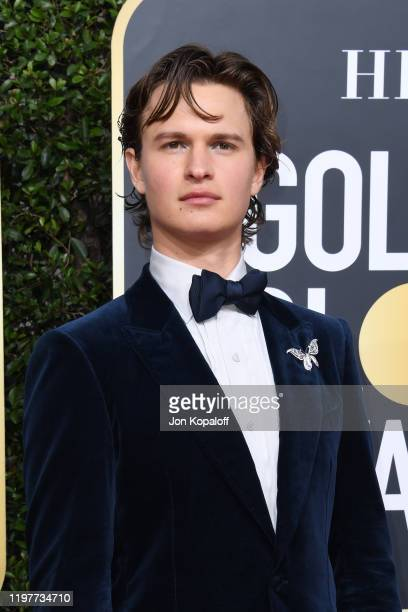 Ansel Elgort attends the 77th Annual Golden Globe Awards at The Beverly Hilton Hotel on January 05, 2020 in Beverly Hills, California.