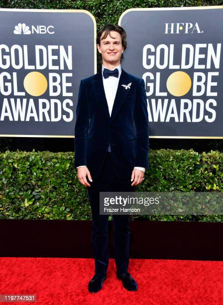 Ansel Elgort attends the 77th Annual Golden Globe Awards at The Beverly Hilton Hotel on January 05 2020 in Beverly Hills California