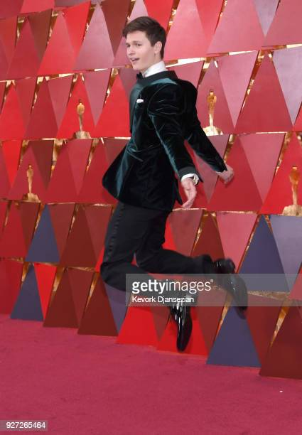 Ansel Elgort attends the 90th Annual Academy Awards at Hollywood & Highland Center on March 4, 2018 in Hollywood, California.