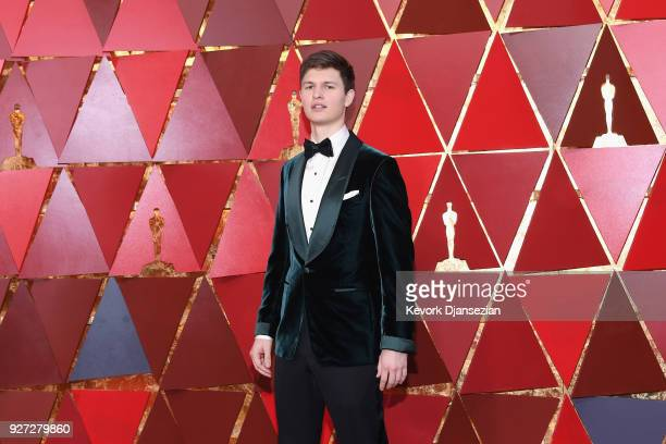 Ansel Elgort attends the 90th Annual Academy Awards at Hollywood Highland Center on March 4 2018 in Hollywood California