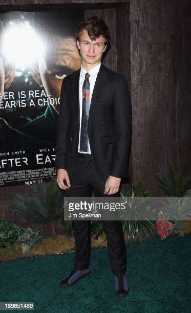 Ansel Elgort attends the 'After Earth' premiere at the Ziegfeld Theater on May 29 2013 in New York City
