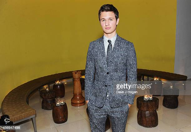 Ansel Elgort attends the After Party of Paramount Pictures Men Women Children at Asia de Cuba on October 9 2014 in London England