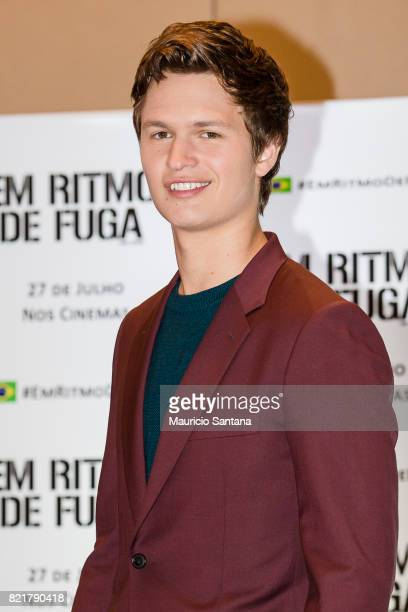 Ansel Elgort attends the 'Baby Driver' photocall at Grand Hyatt on July 24 2017 in Sao Paulo Brazil
