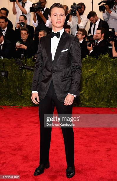 Ansel Elgort attends the 'China Through The Looking Glass' Costume Institute Benefit Gala at the Metropolitan Museum of Art on May 4 2015 in New York...