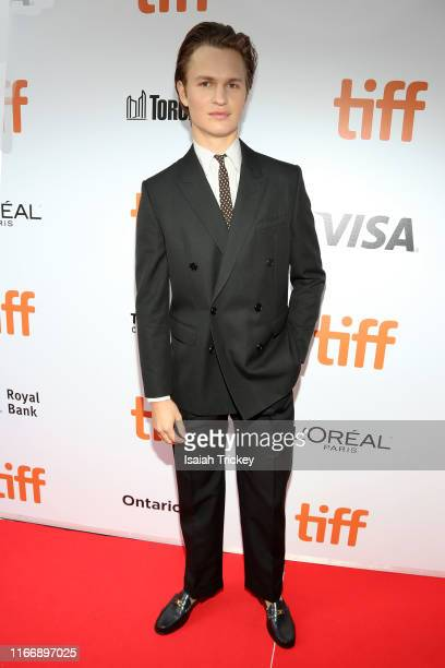 Ansel Elgort attends The Goldfinch premiere during the 2019 Toronto International Film Festival at Roy Thomson Hall on September 08 2019 in Toronto...