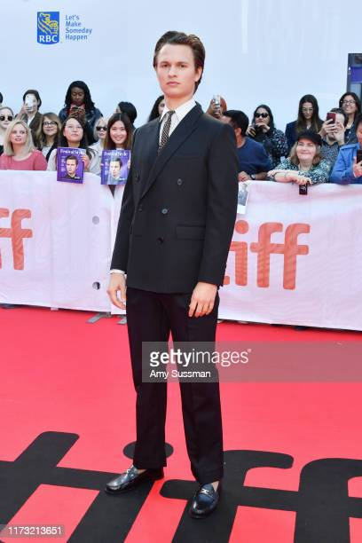 "Ansel Elgort attends ""The Goldfinch"" premiere during the 2019 Toronto International Film Festival at Roy Thomson Hall on September 08, 2019 in..."