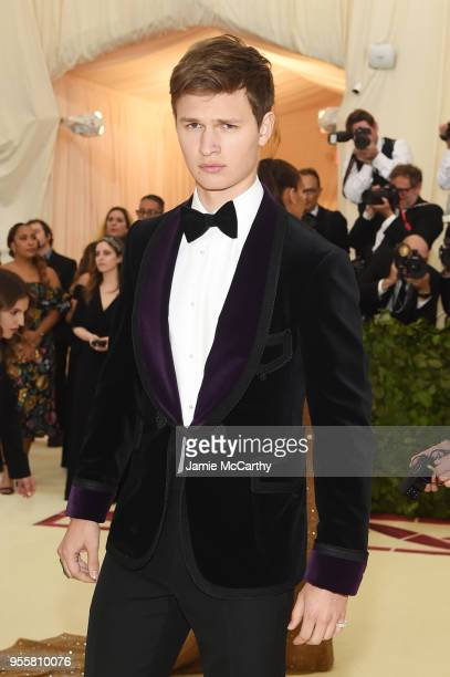 Ansel Elgort attends the Heavenly Bodies Fashion The Catholic Imagination Costume Institute Gala at The Metropolitan Museum of Art on May 7 2018 in...