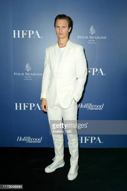 Ansel Elgort attends The Hollywood Foreign Press Association and The Hollywood Reporter party at the 2019 Toronto International Film Festival at Four...
