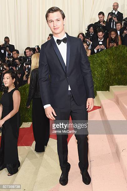 """Ansel Elgort attends the """"Manus x Machina: Fashion In An Age Of Technology"""" Costume Institute Gala at Metropolitan Museum of Art on May 2, 2016 in..."""