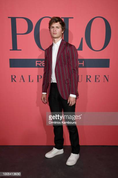 Ansel Elgort attends the Polo Red Rush Launch Party at Classic Car Club Manhattan on July 25 2018 in New York City