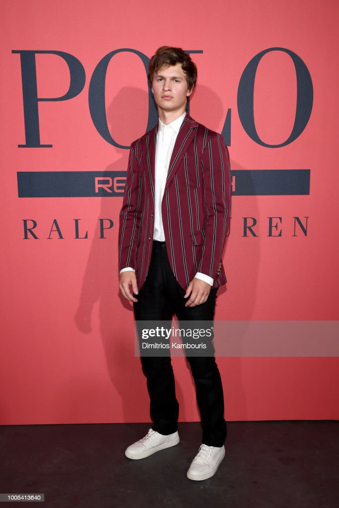 Ansel Elgort attends the Polo Red Rush Launch Party at Classic Car Club Manhattan on July 25, 2018 in New York City.