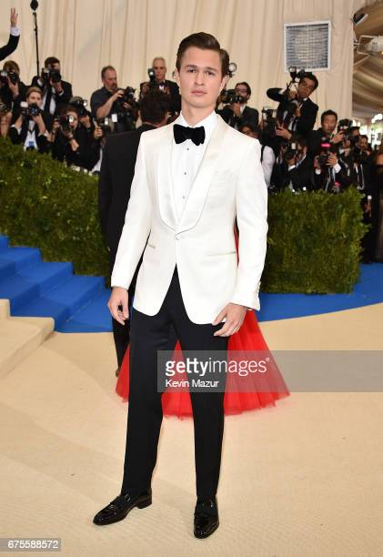 Ansel Elgort attends the 'Rei Kawakubo/Comme des Garcons Art Of The InBetween' Costume Institute Gala at Metropolitan Museum of Art on May 1 2017 in...