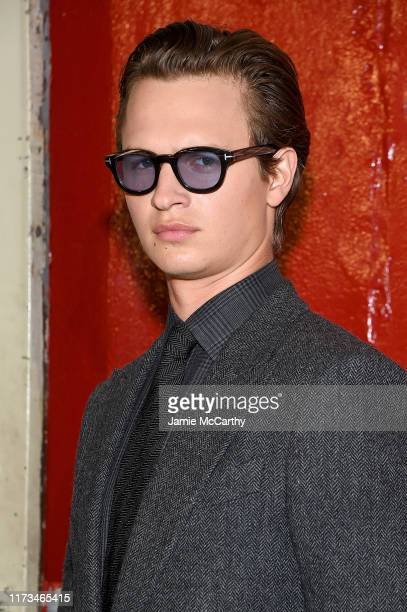 Ansel Elgort attends the Tom Ford arrivals during New York Fashion Week on September 09, 2019 in New York City.