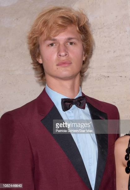 Ansel Elgort is seen on October 17 2018 in New York City