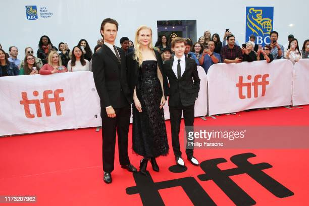 Ansel Elgort Nicole Kidman and Oakes Fegley attend The Goldfinch premiere during the 2019 Toronto International Film Festival at Roy Thomson Hall on...