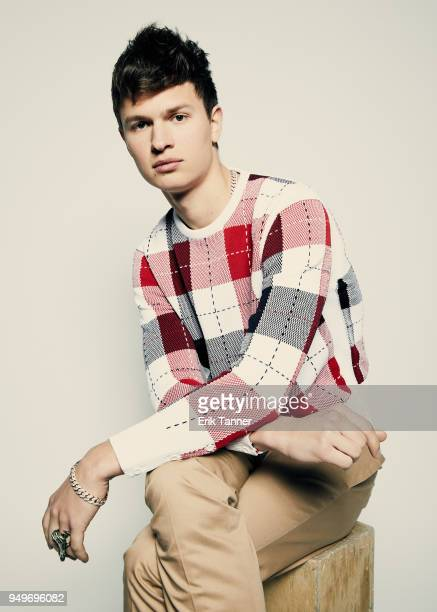 Ansel Elgort of the film Jonathan poses for a portrait during the 2018 Tribeca Film Festival at Spring Studio on April 21 2018 in New York City