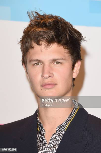 Ansel Elgort poses in the press room during 2017 American Music Awards at Microsoft Theater on November 19 2017 in Los Angeles California