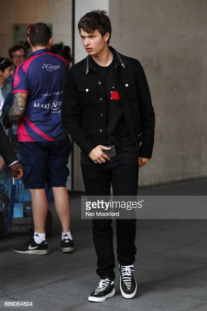 Ansel Elgort seen at BBC Radio One on June 21 2017 in London England