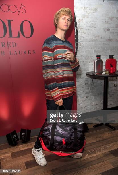 Ansel Elgot celebrates the launch of Polo Red Rush Collection at Macy's Herald Square on October 11 2018 in New York City