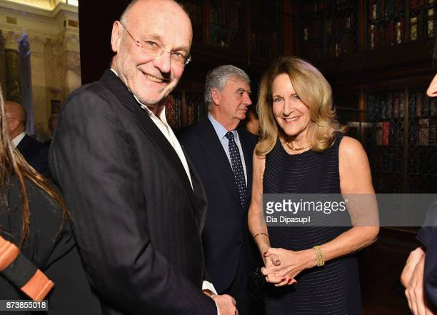 Anselm Kiefer and Katherine Sachs attend the Getty Medal Dinner 2017 at The Morgan Library Museum on November 13 2017 in New York City