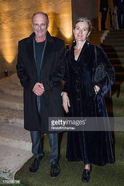 Anselm Kiefer and Renate Graf attend the private visit of the exhibition by Italian artist Giuseppe Penone at Chateau de Versailles on June 9 2013 in...