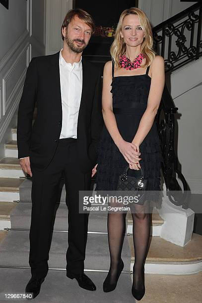 Anselm Reyle and Delphine Arnault attend a dinner at Dior fashion house on October 19 2011 in Paris France
