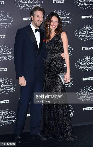 Anselmo Guerrieri Gonzaga and Ilaria Tronchetti Provera arrive for Pirelli's 50th anniversary Gala dinner held at HangarBicocca on November 21 2013...