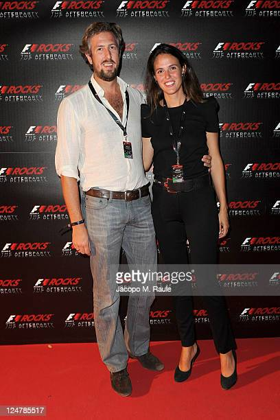 Anselmo Guerrieri Gonzaga and Ilaria Tronchetti Provera attend F1 Rocks The After Party at Just Cavalli on September 11 2011 in Milan Italy