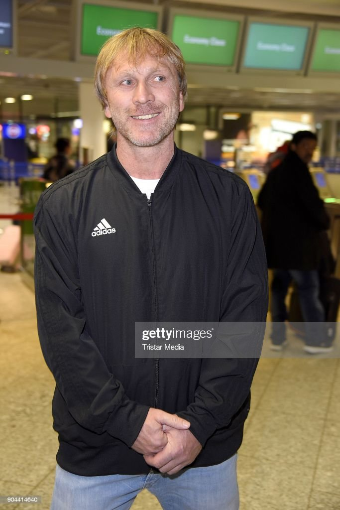 Ansgar Brinkmann leaves for 'I'm a celebrity - Get Me Out Of Here!' ('Ich bin ein Star - Holt mich hier raus!') in Australia from Frankfurt International Airport on January 13, 2018 in Frankfurt am Main, Germany. 'I'm a celebrity - Get Me Out Of Here!' ('Ich bin ein Star - Holt mich hier raus!'), also known as 'Jungle Camp' ('Dschungel- Camp') is an annual Germany TV show.
