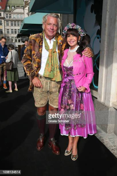 Ansgar Sommer and his wife Marlene Sommer during the 'Fruehstueck bei Tiffany' at Tiffany Store ahead of the Oktoberfest on September 22 2018 in...