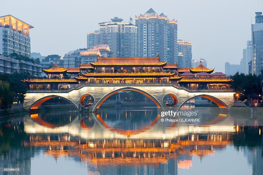 Anshun bridge in Chengdu : ストックフォト