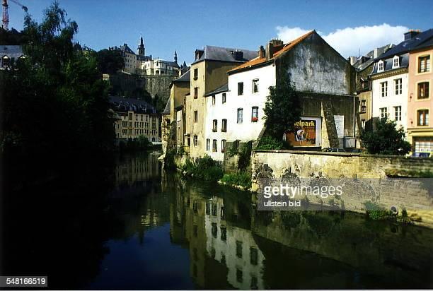 Ansicht aus der Altstadt am Flüßchen Alzette 1996