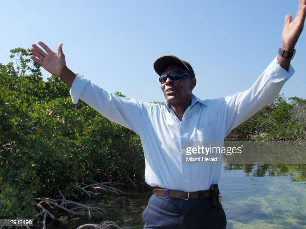 Ansil Saunders a bonefish guide/boat builder recites the psalm he originally read to Dr Martin Luther King Jr in Bonefish Creek in Bimini Bahamas...