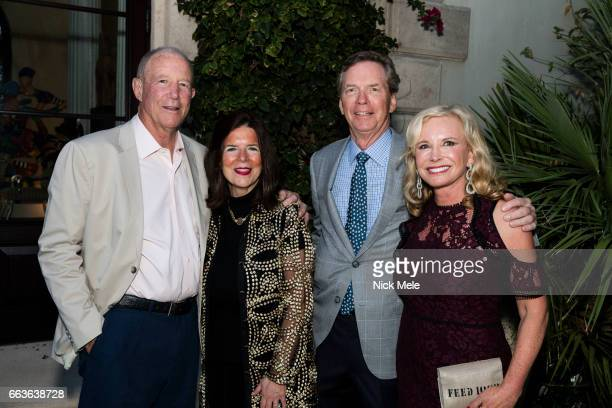 Anson Beard Stephanie Whittier Bob Murray and Sharon Bush attend Sharon Bush Hosts Benefit Dinner for Cristo Rey Brooklyn High School at Private...