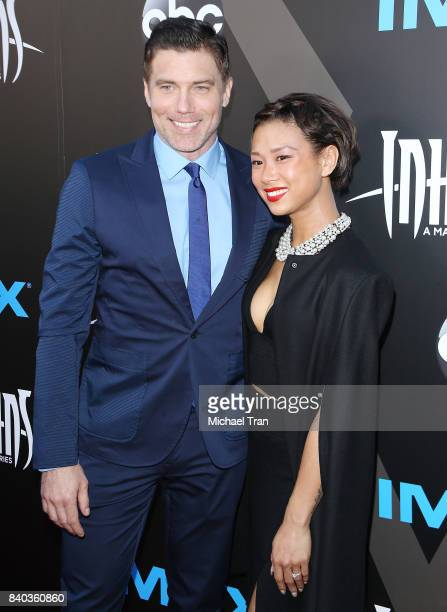 Anson Mount and Darah Trang arrive at the Los Angeles premiere of ABC and Marvel's Inhumans held at Universal CityWalk on August 28 2017 in Universal...