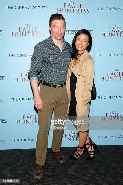 Anson Mount and Darah Trang attend a screening of The Eagle Huntress hosted by Sony Pictures Classics and The Cinema Society at Landmark Sunshine...