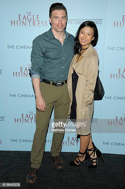 Anson Mount and Darah Trang attend The Eagle Huntress screening at Landmark Sunshine Cinema on October 20 2016 in New York City