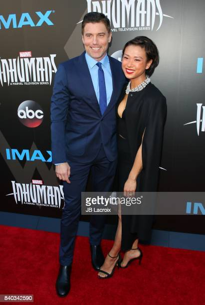Anson Mount and Darah Trang attend the world premiere of Inhumans at Universal CityWalk on August 28 2017 in Universal City California