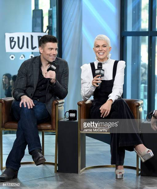 Anson Mount and Serinda Swan attend the Build Series to discuss their new show 'Inhumans'at Build Studio on August 31 2017 in New York City