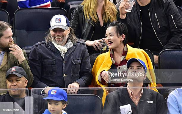 Anson Mount attends New Jersey Devils vs New York Rangers game at Madison Square Garden on April 4 2015 in New York City