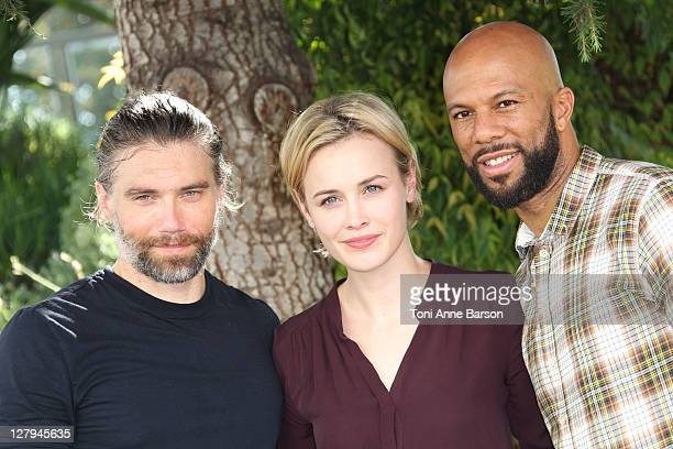 Anson Mount Dominique McElligott and Common attend 'Hell On Wheel'photocall as part of MIPCOM 2011 at Hotel Majestic on October 3 2011 in Cannes...
